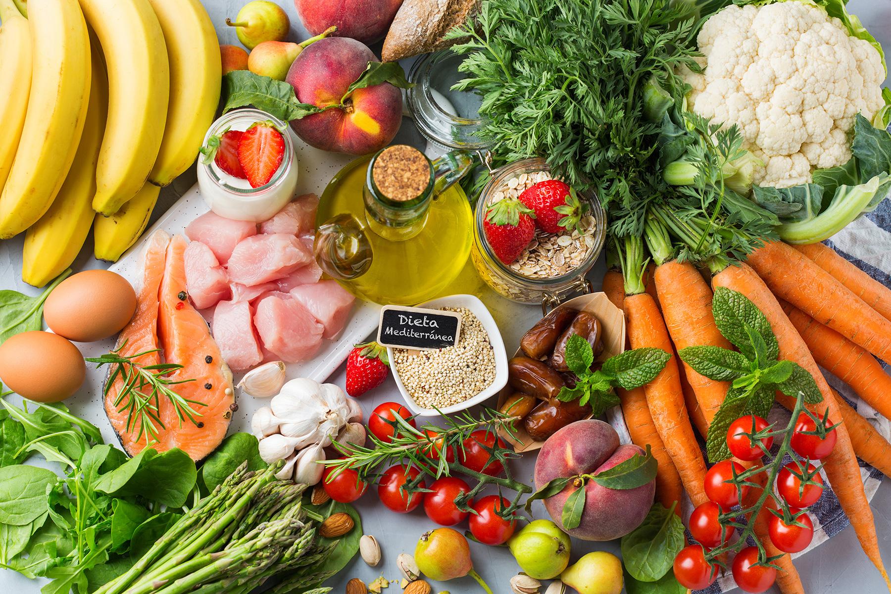 Alimentos de la dieta mediterránea